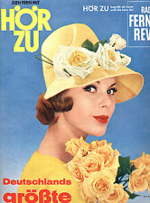 Kult-Zeitschrift HÖRZU  Heft 32 von 1961, Luis Trenker, Fernsehprogramm, Mecki