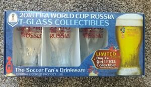Russia 2018 Logos FIFA World Cup Trophy-glass Set of 4