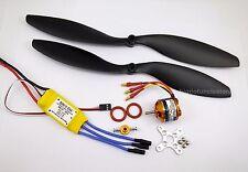 046BK:1 set KV930 Brushless Motor ,Props & 30A ESC Kit for RC AirPlane FW:700g