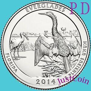 2014 P&D EVERGLADES NATIONAL PARK FLORIDA TWO QUARTERS SET UNCIRCULATED U.S.MINT