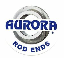 "AURORA Sticker Decal 4"" x 4"" ROD ENDS"
