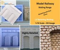 Model Railway Retaining Lineside Walling - OO/HO Gauge - LS01