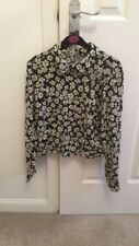 Miss Selfridge Top Blouse Daisy Print Size 10