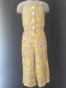 Girls Lovely Yellow leaf Jumpsuit. Aged 4/5yrs. Brand New