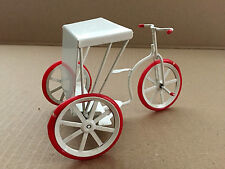 Vintage Miniature 3 Wheel Rickshaw Pedicab Metal Pedal Bike Doll House