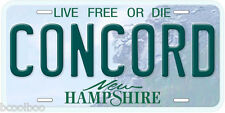 Concord New Hampshire Aluminum Novelty Car License Plate
