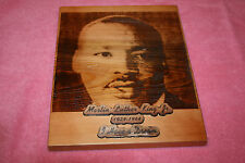 Martin L. King Jr. Wood Burned Plaque by Jerry's Works of Wood USA