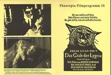 ALLAN POE - ROGER CORMAN - THE TOMB OF LIGEIA * GERMAN MOVIE PROGRAM!