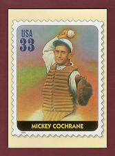 Mickey Cochrane A's Off. Usps All-Century Team postcard