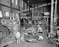 Photograph Vintage Detroit Steamship Engine Shop 1912  8x10