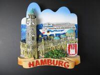 Hamburg Aimant Port Paquebot de Croisière Allemagne Frigo Poly Souvenir, Neuf