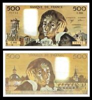 FRANCE 500 Francs,  1989  ''Pascal'' / Fayette   , P-156 , XF