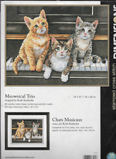 """MEOWSICAL TRIO STAMPED Cross Stitch Dimensions,MPN 3225,Sealed,USA! 14 x 11"""""""