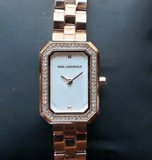 Karl Lagerfeld KL6107 Linda RoseGold Breclt Watch With 21mmx39mm Rectangle Face
