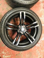 "BMW M3  M SPORT 19"" INCH BLACK ALLOY WHEELS X4 WITH TYRES"
