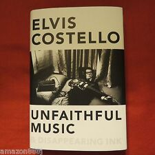 SIGNED ELVIS COSTELLO Unfaithful Music and Disappearing Ink 2015, HCDJ