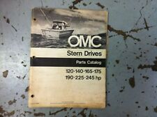 USED OMC ENGINE STERN DRIVE  PARTS MANUALS  MANY HP'S 120 THRU 245 HP