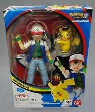 SH S.H. Figuarts Ash Ketchum & Pikachu Pokemon Bandai Japan NEW