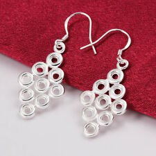 925 Silver Diamond Creative Drop Dangle Earrings  =UK SELLER=