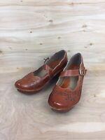 Spring Step L'Artiste Amrita Brown Leather Mary Jane Wedge Heels EUR 41 US 10.5