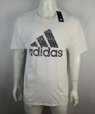 Adidas Men's The Go to Tee T shirt 2Xl Front Logo White Nwt