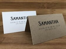 Wedding Name Guest PlaceCards - Custom Printed Place Cards Personalised
