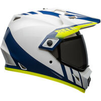 NEW Bell MX 2020 MX-9 Adventure MIPS Dash Blue/White Off Road Helmet