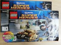 LEGO - INSTRUCTIONS The Bat vs. Bane: Tumbler - The Dark Knight - 76001
