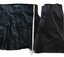 Girls Size 12 Reg & Slim Navy Uniform Bottoms Stretch Skirt And Slim Shorts #705