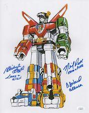 B.J. Ward, Michael Bell and Neil Ross Autograph 11x14 Photo Voltron Signed Jsa