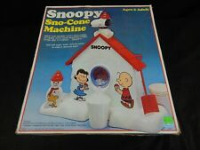 VINTAGE PEANUTS SNOOPY SNO-CONE MACHINE IN ORIGINAL BOX