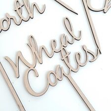 Wooden Table Names, Customised Table Names, Free Standing Wedding Table Names