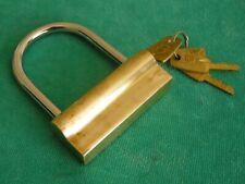 Vintage Russian Brass Padlock with 3 Keys USSR 1970's NOS RARE