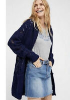 Free People High Hopes Open Front Slouchy Oversized Cardigan Sweater Size Small