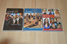 lot 3 coffrets DVD GOSSIP GIRL intégrales saison 1 3 4 - VF