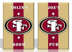 PERSONALIZED San Francisco 49ers Light Switch Covers NFL Football Home Decor