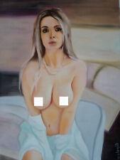 ORIGINAL OIL PAINTING WOMAN ART BY UKRAINE ARTIST