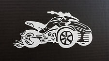 CAN-AM SPYDER  F3 FLAMES - WINDOW DECAL / BUMBER STICKER  - 13 vinyl colors