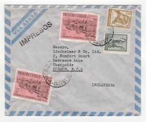 1963 ARGENTINA Air Mail Cover BUENOS AIRES to LONDON GB Fonseca