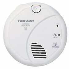 Interconnected Hardwire Wireless Photoelectric Smoke Alarm with Battery Backup