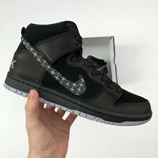 NIKE SB ZOOM DUNK HIGH PRO QS BLACK BAR (AH9613 002) SIZE UK5.5/EU38.5/US6