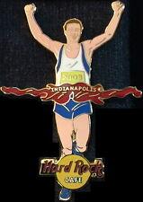 Hard Rock Cafe INDIANAPOLIS 2003 MARATHON RUNNER PIN Guitars Finish Line #18682