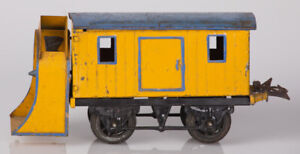 Hornby O Gauge No.1 Rotary Snow Plough Yellow and Blue with Black Base