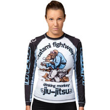 Tatami Fightwear Ladies Drinker Monkey Long Sleeve BJJ Rashguard - White/Black