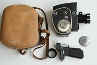 Vintage 1960s Soviet Quarz Zoom Clockwork 8mm Cine Film Movie Camera