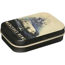 Geprägte Nostalgie Pillendose + Pfefferminzdragees Mercedes Silberpfeil DOPI71
