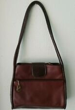 Carriage House Leather Shoulder Bag Tote 2-tone Multiple Compartments Pockets