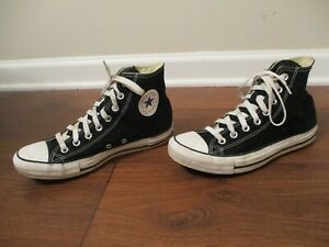 Used Men's Size 7 Fit Like 7.5 - 8 Converse Chuck Taylor All Star Hi Shoes Black