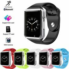 Blue A1 Smart Watch Bluetooth Waterproof GSM SIM Cam Android For iOS Phone