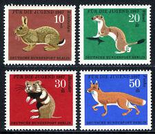 Germany-Berlin 9NB45-9NB48, MNH. Animals. Rabbit, Ermine, Hamster, Red fox, 1967
